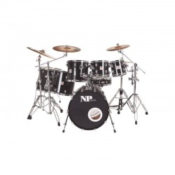 SET BATERIA TWIN ROCK 7 PIEZAS CASCO...